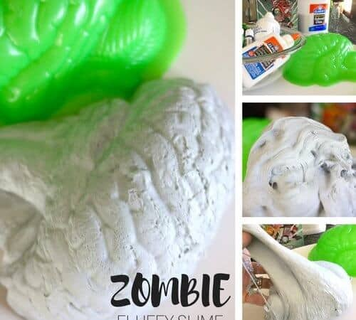 Fluffy Zombie Slime Recipe for Kids