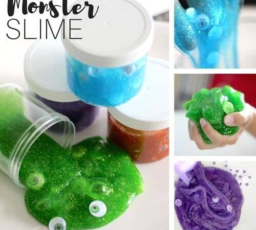 Google Eye Monster Slime Recipe for Kids