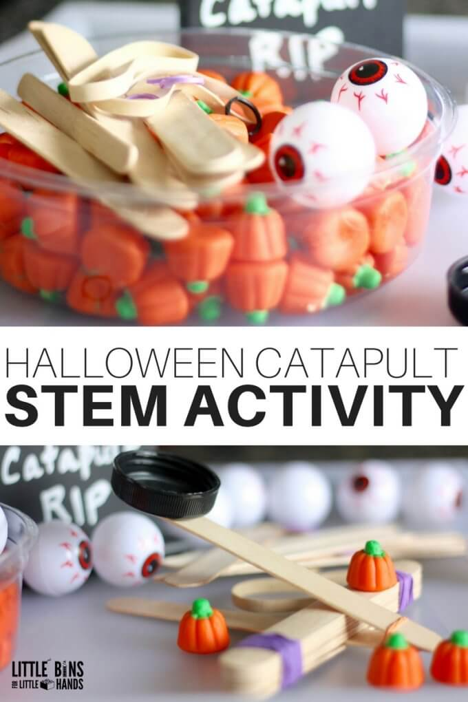 Easy Halloween Science Experiment with a Halloween Popsicle Stick STEM Activity
