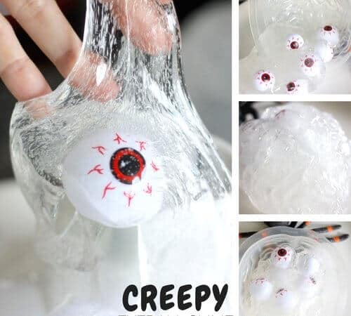 Creepy Eyeball Halloween Slime Recipe