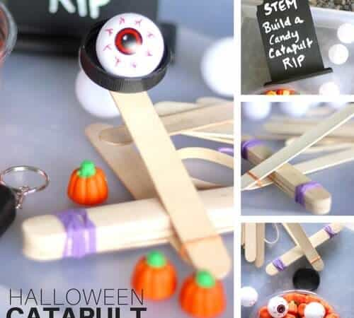 Halloween Popsicle Stick Catapult STEM Activity