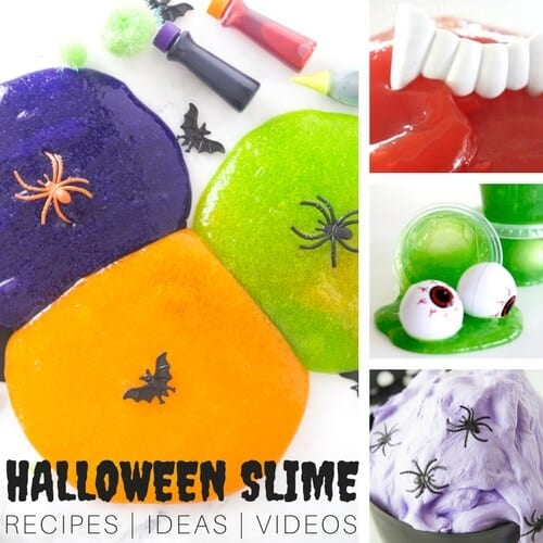 halloween slime recipes for fall slime