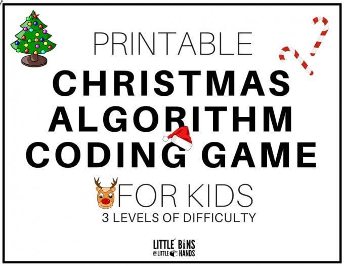 Christmas Coding Algorithm STEM Game