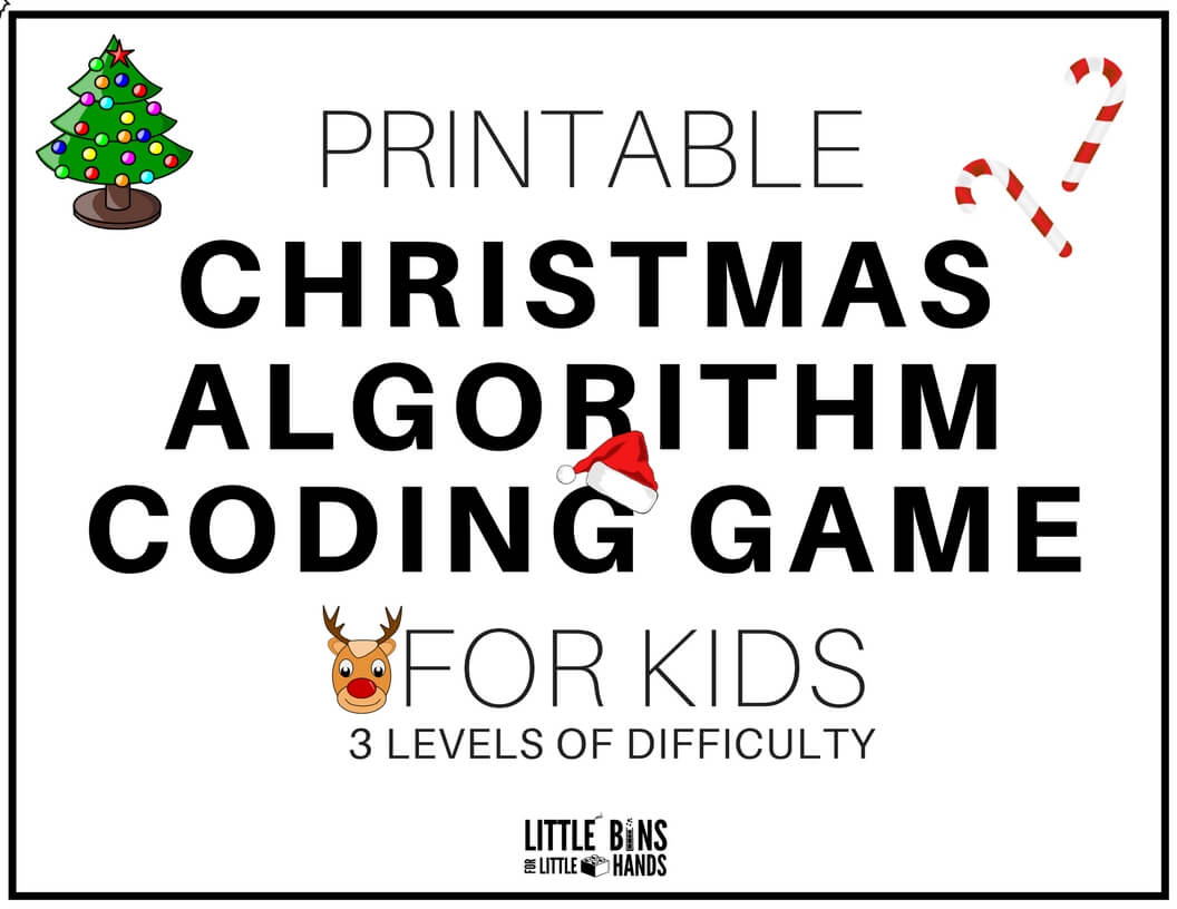 image relating to Printable Christmas Images called Xmas Coding STEM Game Activity Absolutely free Printable Sheets