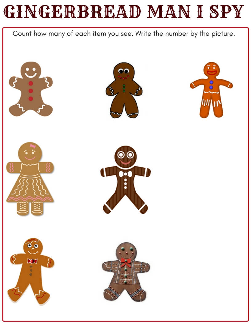 picture regarding Printable Gingerbread Man called Printable Gingerbread Person Sport for Small children Xmas Functions