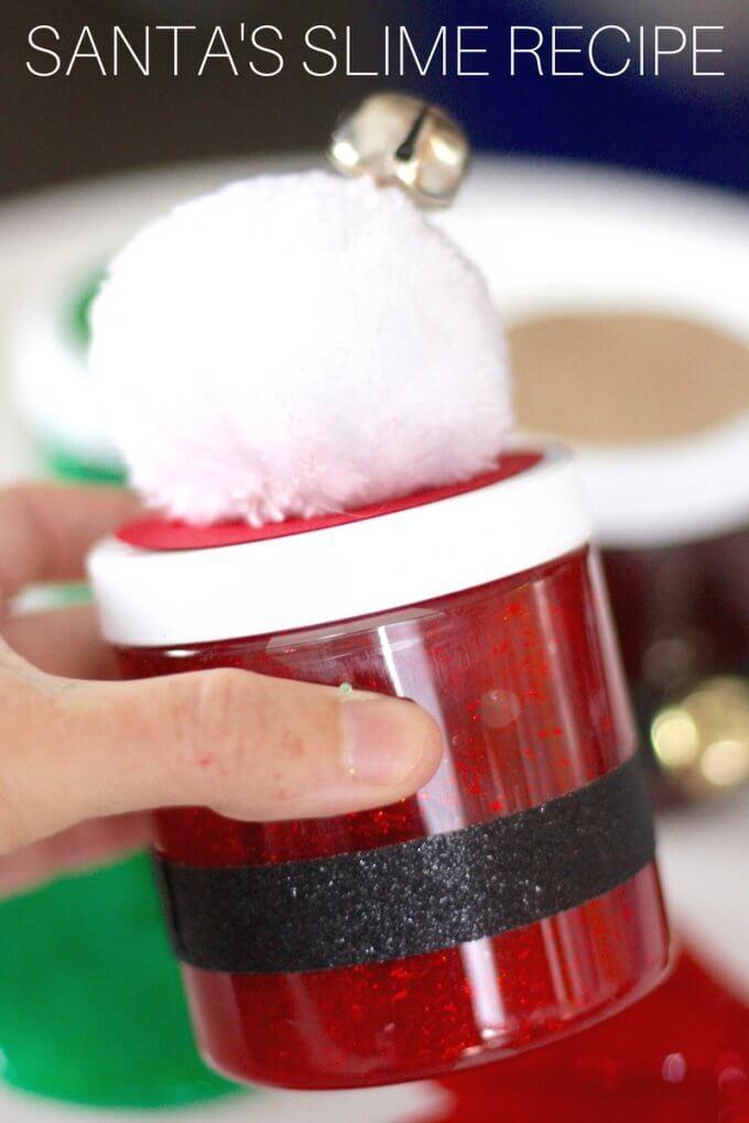 Santa Christmas Slime Recipe for Kids
