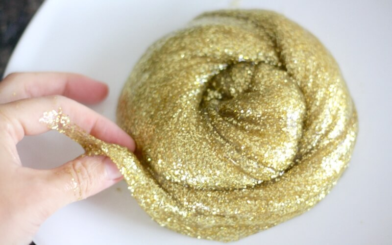 gold and silver slime recipes for homemade slime