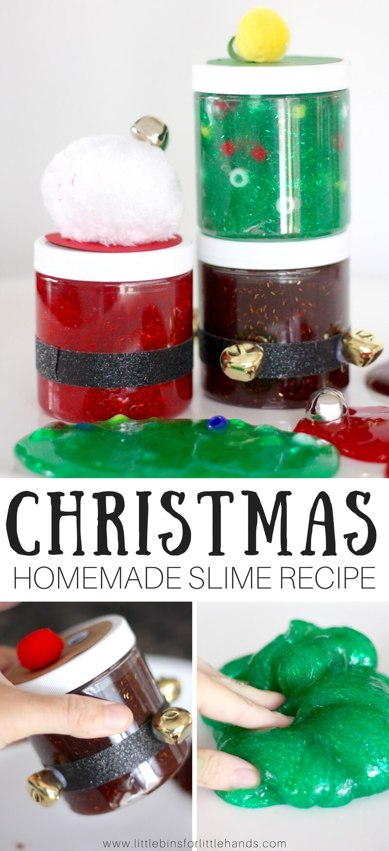festive and homemade christmas slime recipe for kids
