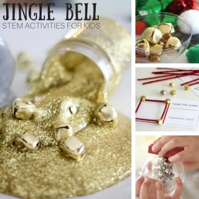Jingle Bell STEM Activities for Kids Christmas STEM