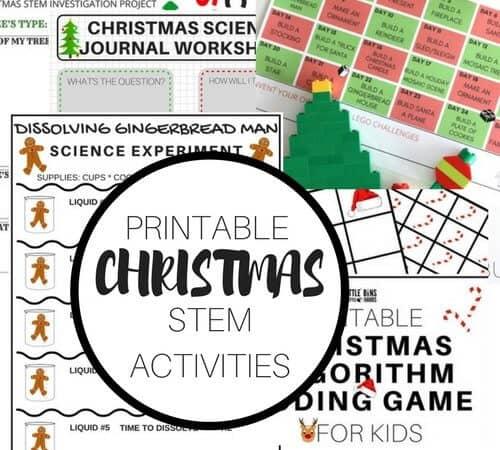 Printable Christmas STEM Activities for Kids