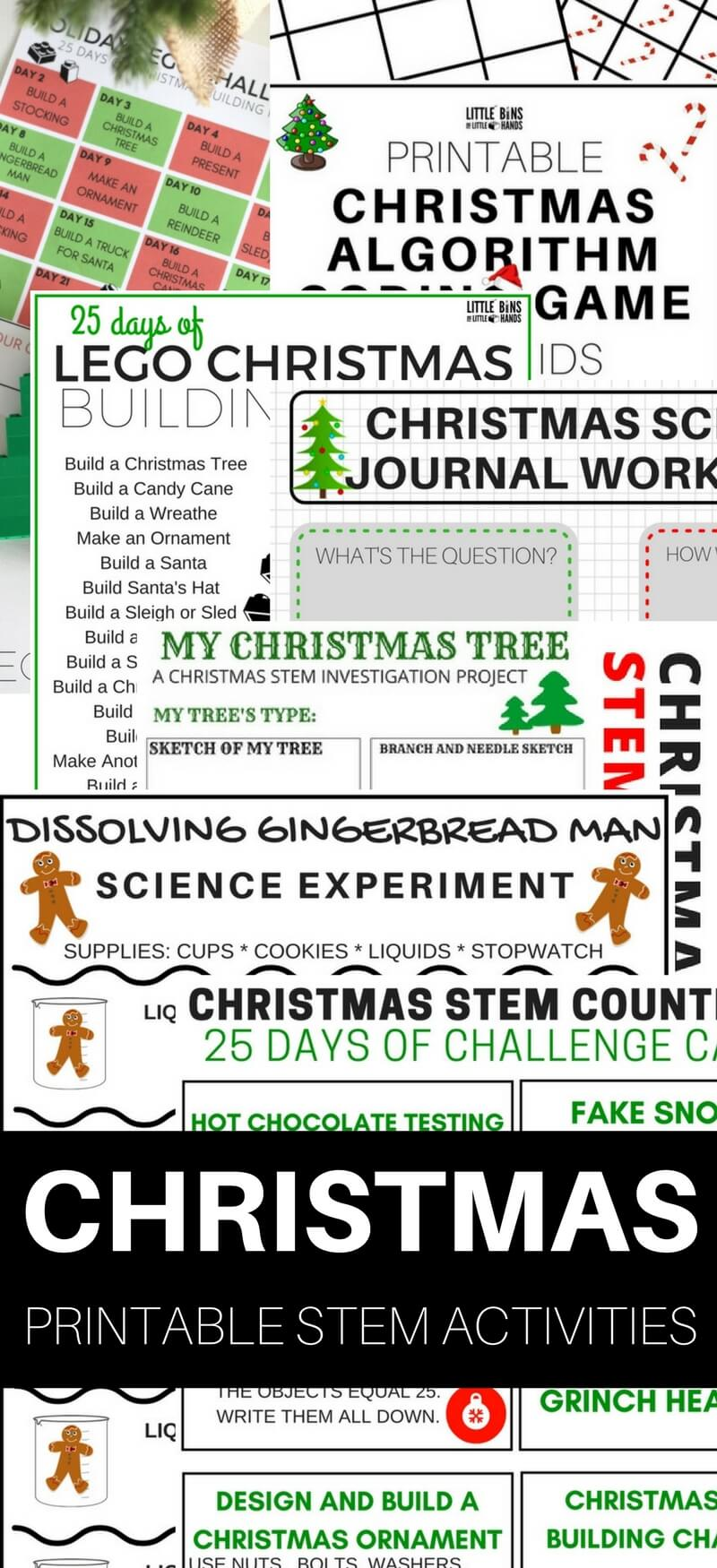 image relating to Printable Christmas Activities called Printable Xmas STEM Functions and Science Research