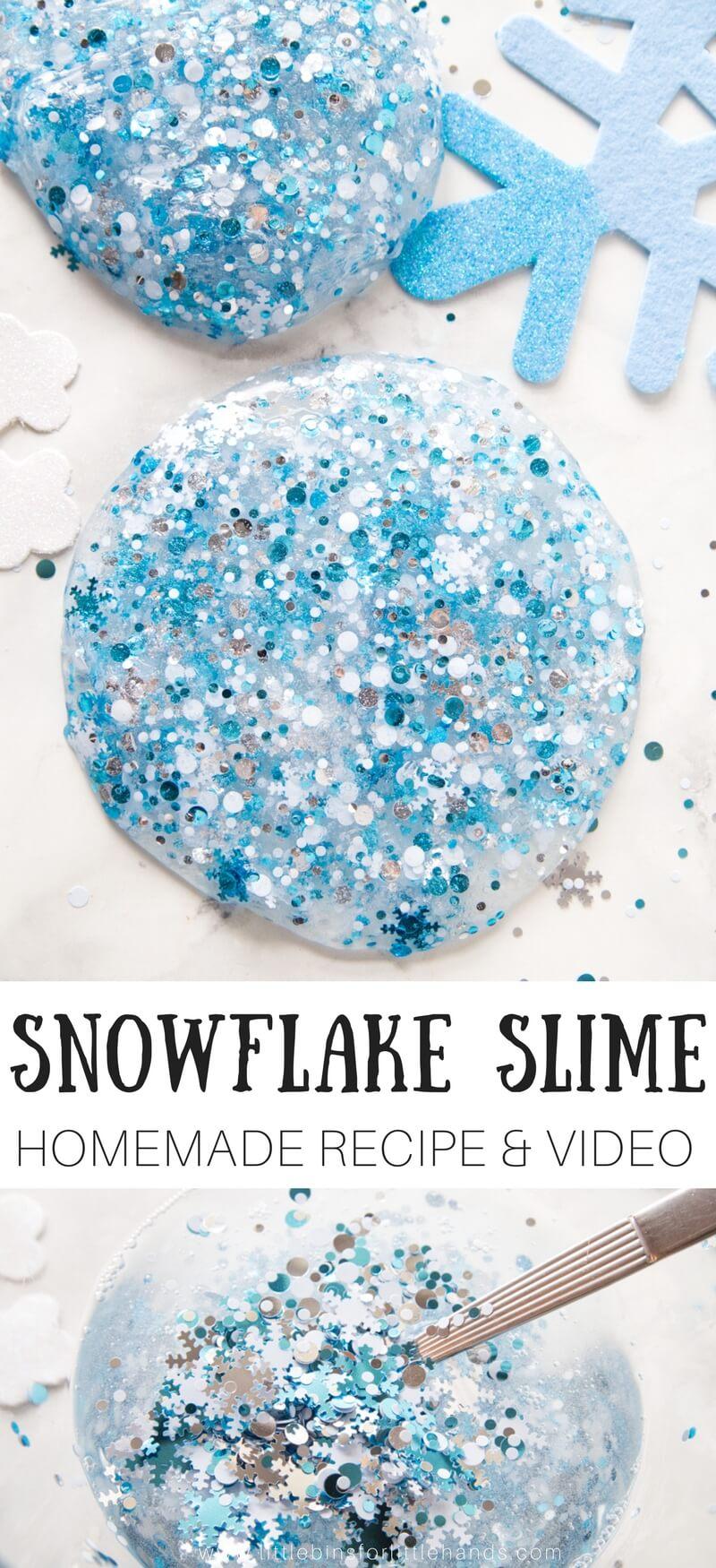 Make Homemade Snowflake Slime Recipe With Video