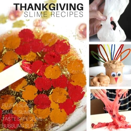 Thanksgiving Slime for thanksgiving science activities