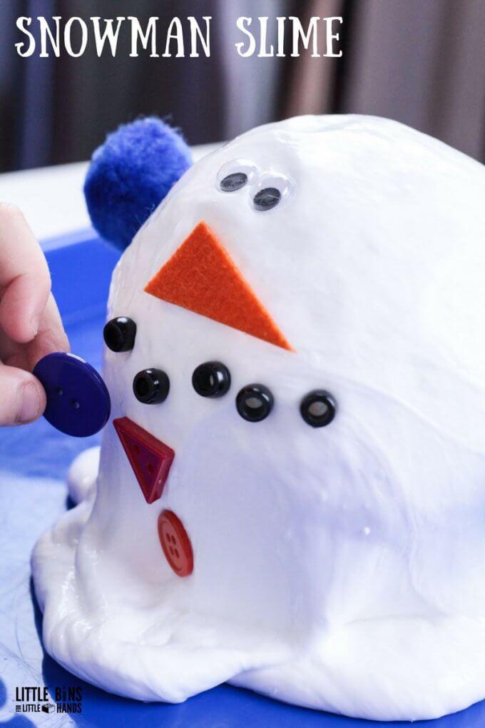 How To Make Snow Slime with Melting Snowman Slime Recipe