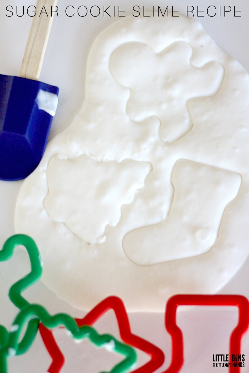 Sugar Cookie Vanilla Scented Slime Recipe