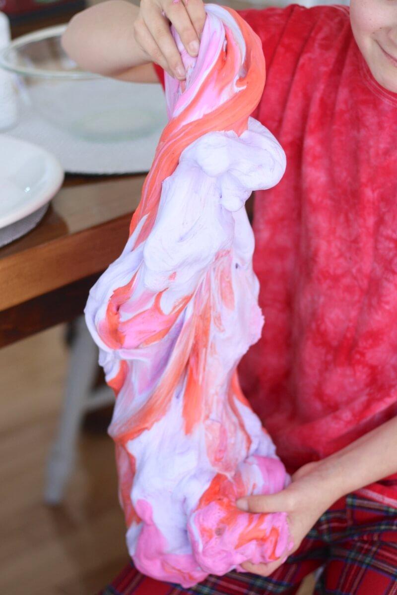 Make Valentines Day Fluffy Slime Recipe for Kids