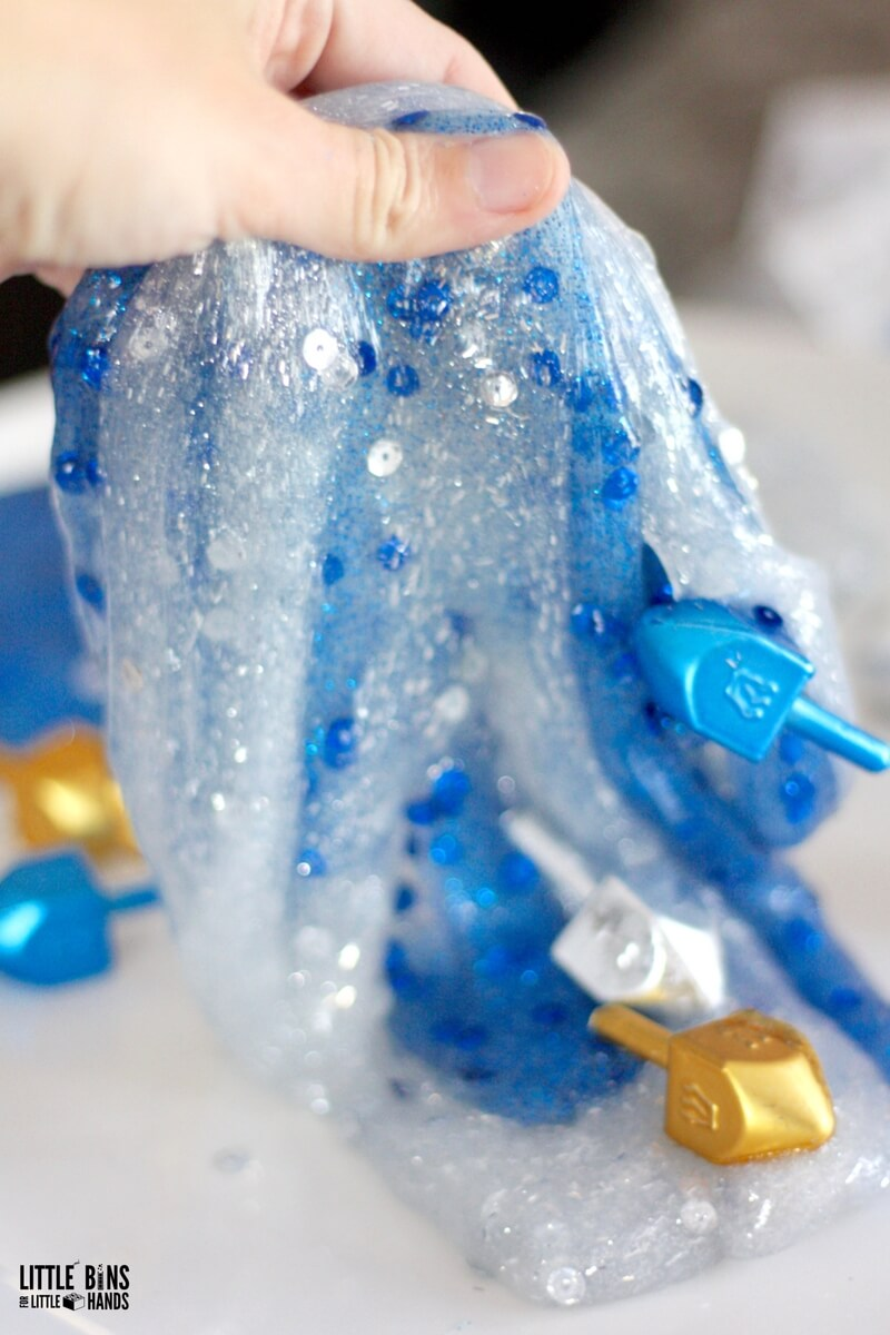 Make Hanukkah Slime with Homemade Slime Recipe