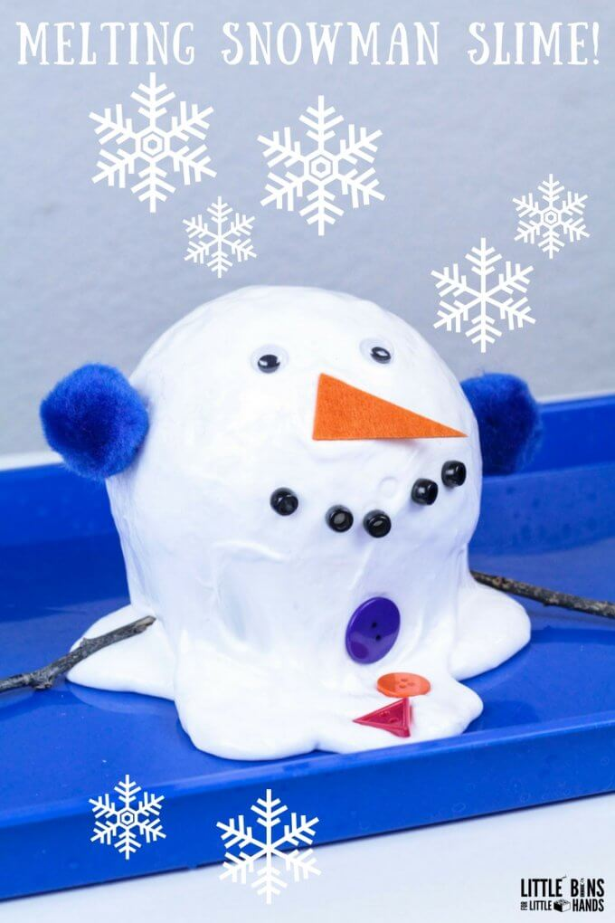 Melting Snowman Slime Recipe for Kids Homemade Winter Slime