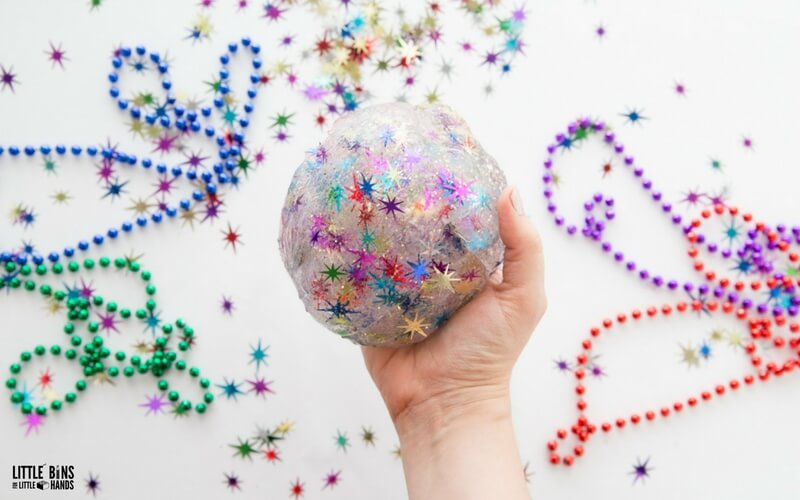 New Years Eve Slime Recipe with Party Confetti