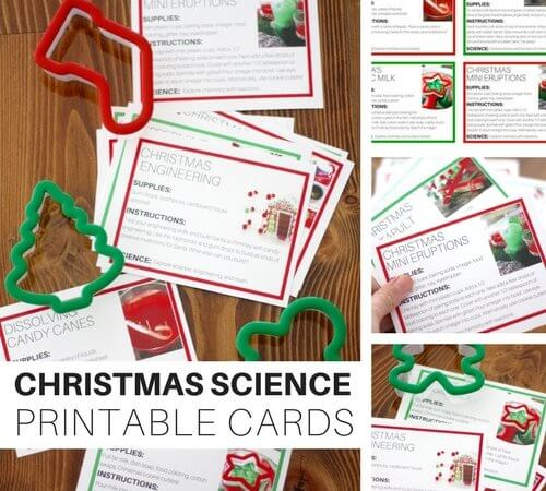 Our Printable Christmas Science Experiment Cards Are A Must Try!