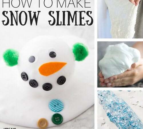 How To Make Snow Slime Recipe Ideas for Kids Winter Slime Science
