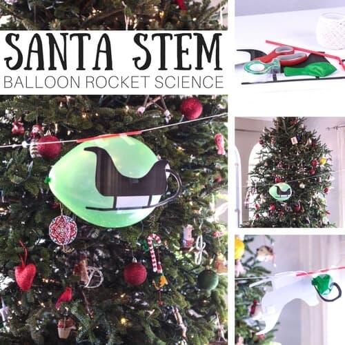 santa stem balloon rocket science and christmas physics