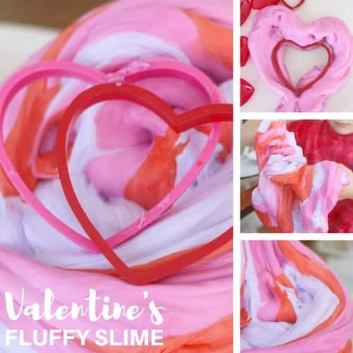 fluffy valentines day slime recipe