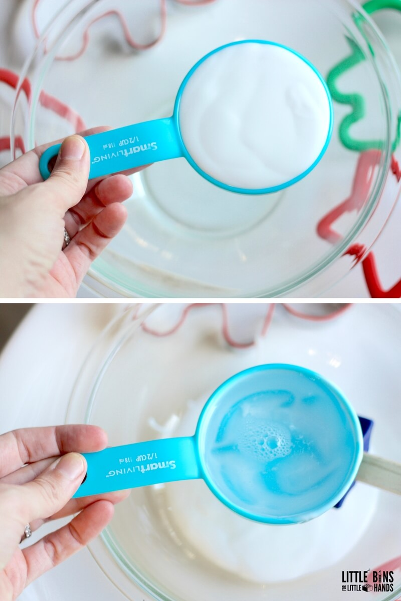 Vanilla Scented Slime Recipe Set Up with White Glue