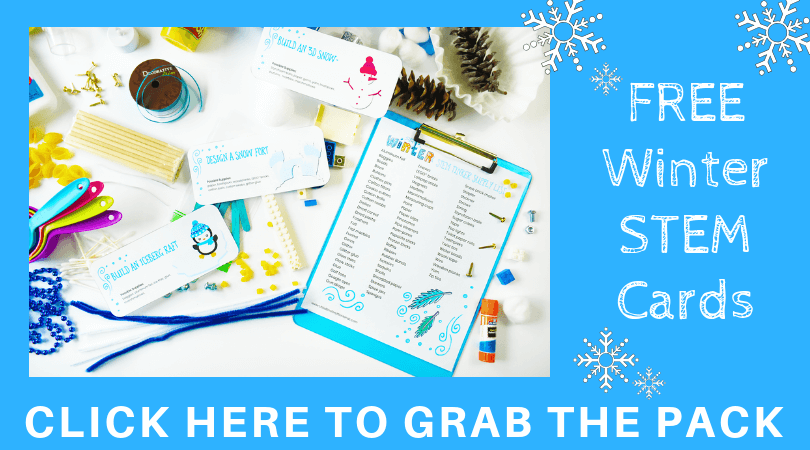 Free Winter STEM Challenge Cards for Kids