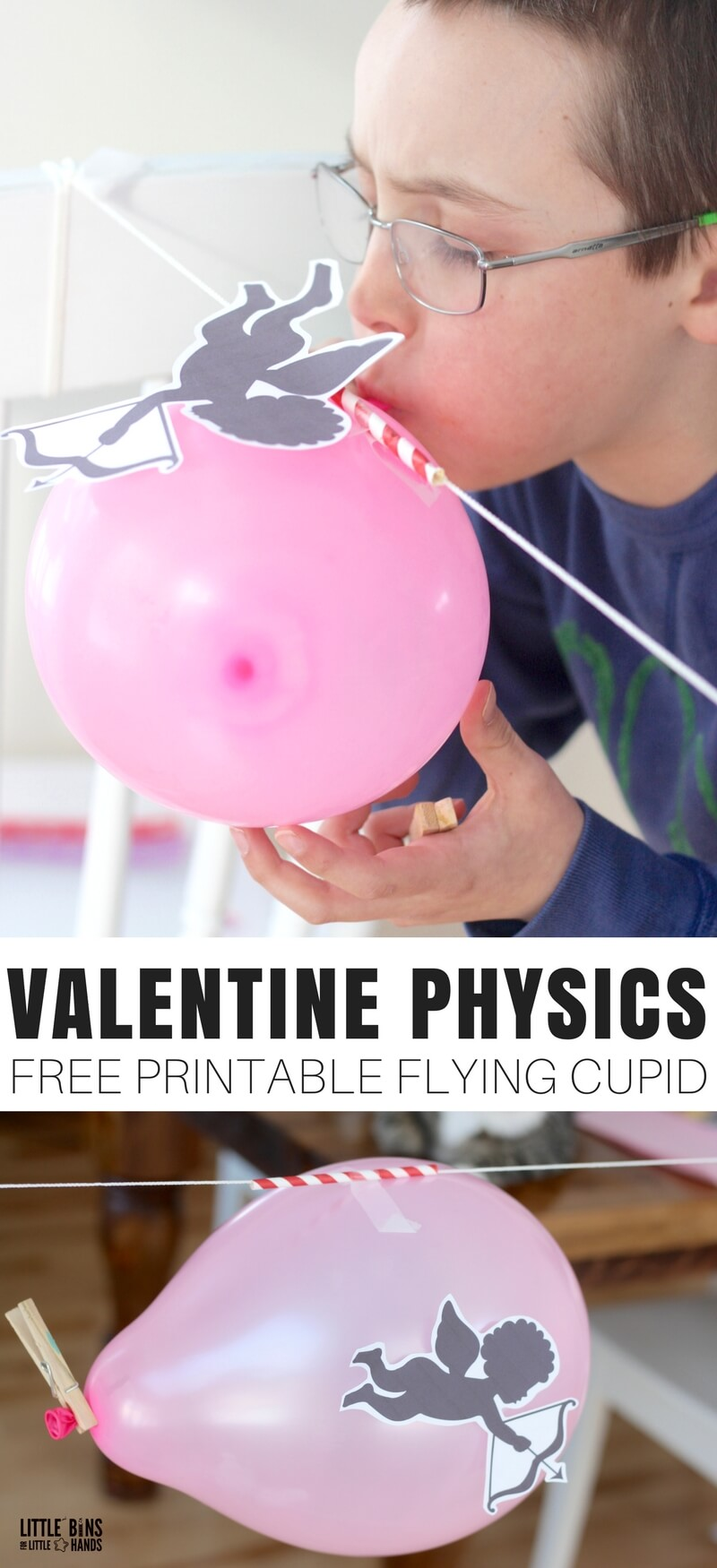 Valentines Day Physics Activities: Balloon Rocket and Newton's 3rd Law of Motion Action Reaction