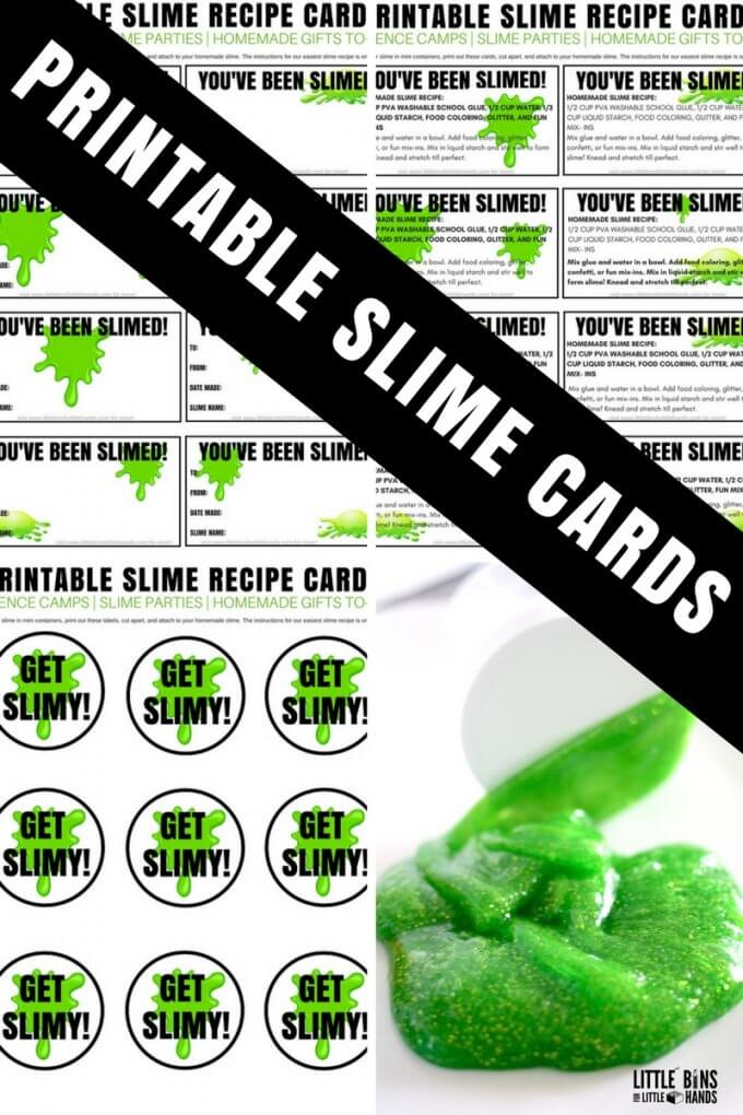 This is a graphic of Sweet Slime Recipe Printable