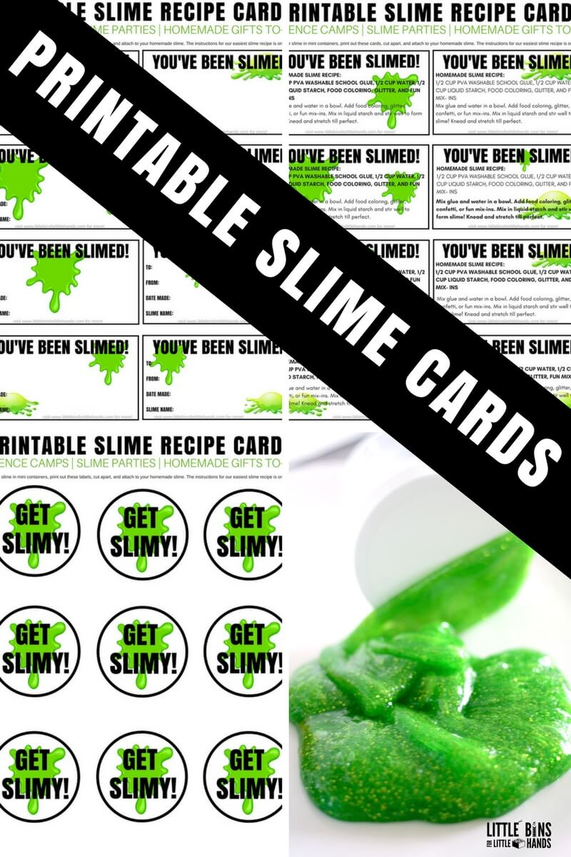 photograph regarding Slime Recipe Printable titled Printable Slime Playing cards and Labels for Home made Slime Toward-Transfer