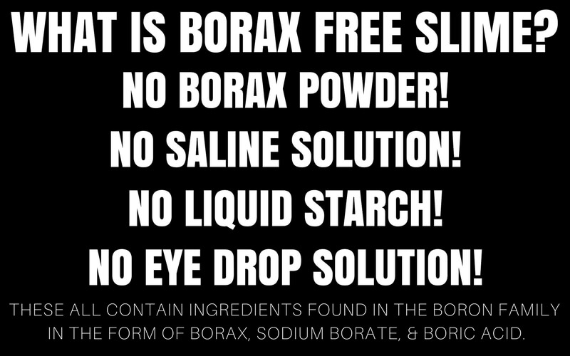 what makes a slime borax free?