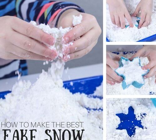 How To Make Fake Snow for Easy Winter Sensory Play