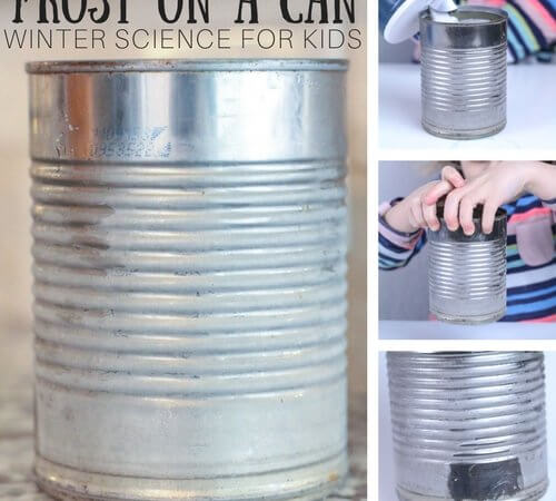 How To Make Frost On A Can for Easy Winter Science Indoors