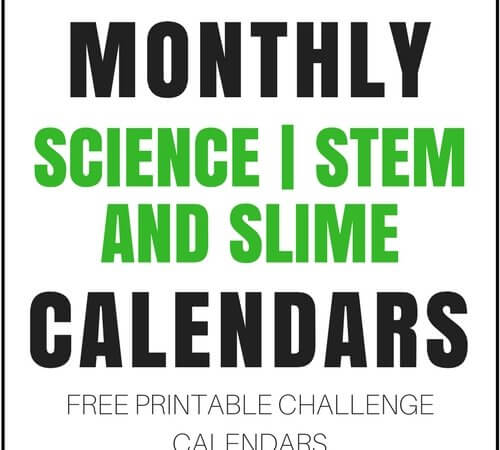 STEM Activities Calendars (FREE Monthly Printable Calendars and More!)