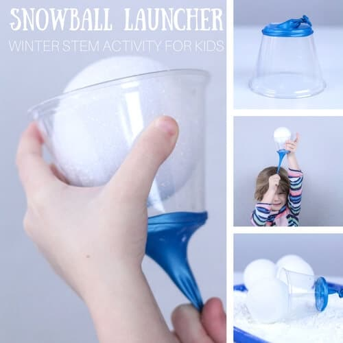 Prepare Your Child For Stem Subjects: Make Snowball Launcher Winter STEM Activity For Kids
