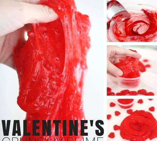 Best Valentines Day Crunchy Slime Recipe for Kids