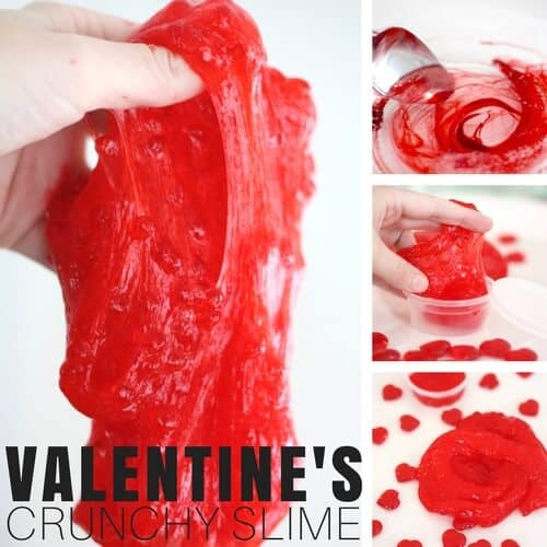 crunchy valentines day slime recipe