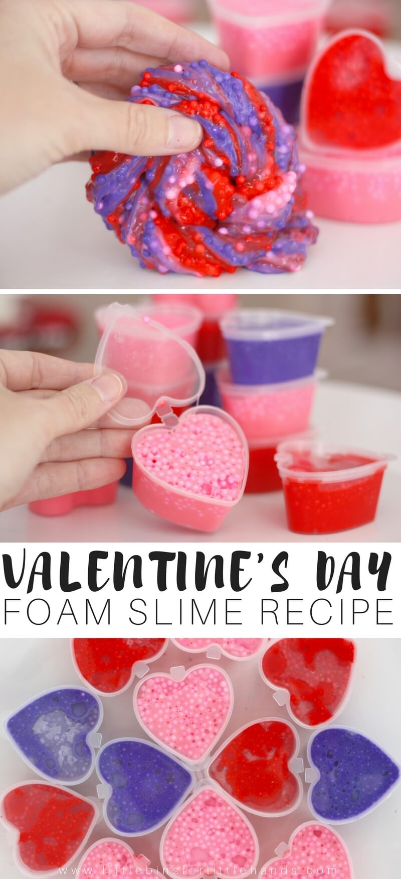 learn how to make valentines day floam slime with the kids this season make candy