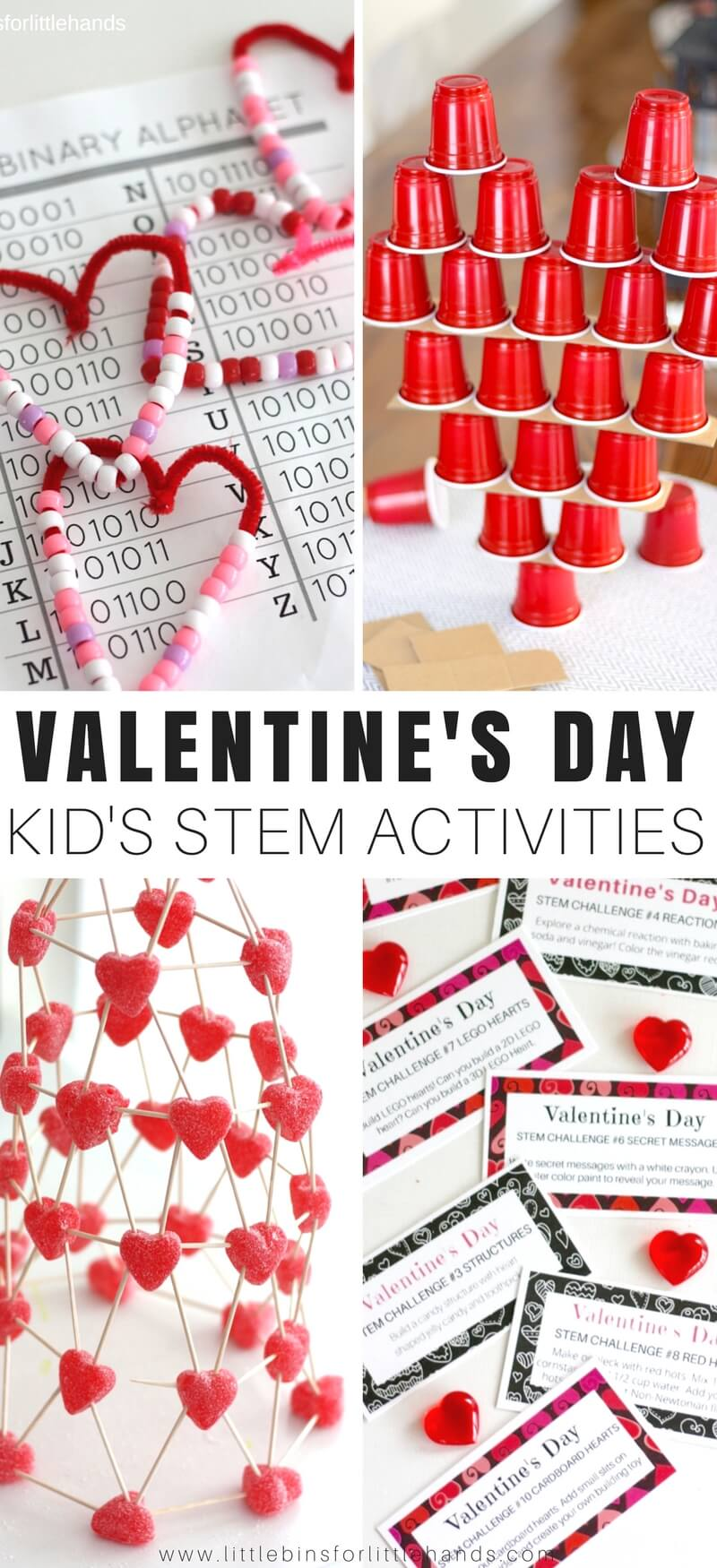 Valentines Day STEM Activities and Challenges for Kids