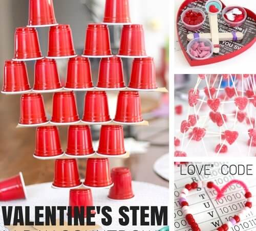 14 Days of Valentines Day STEM Activities and Challenges