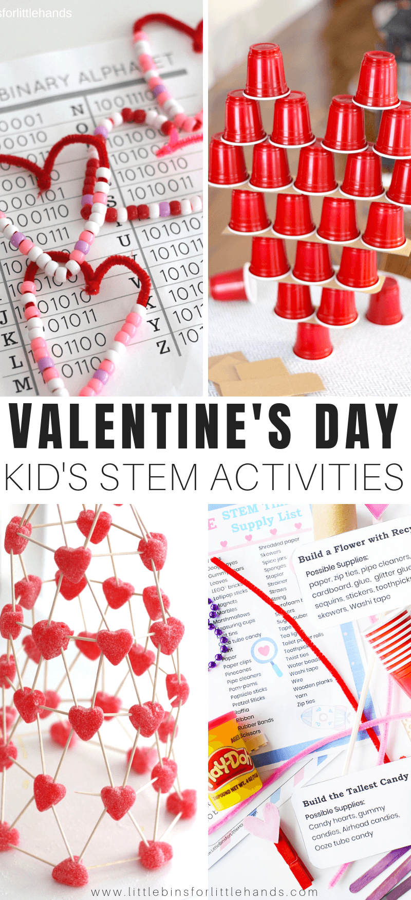 Valentine Stem Activities For Kids Little Bins For Little Hands