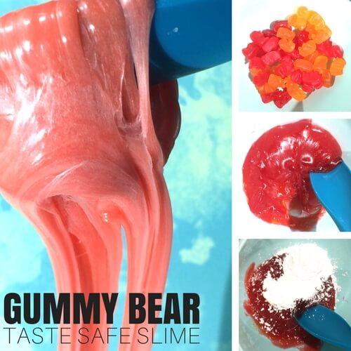 Borax Free Slime: Edible Gummy Bear Slime