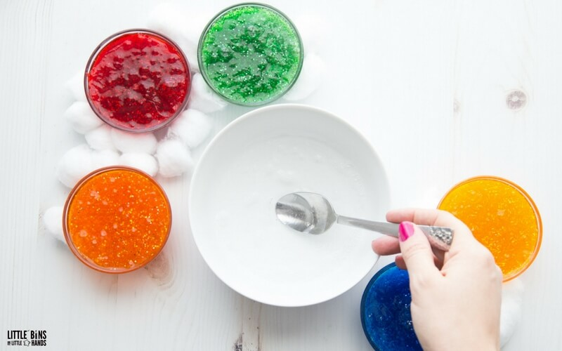 Learn how to make rainbow slime recipe steps