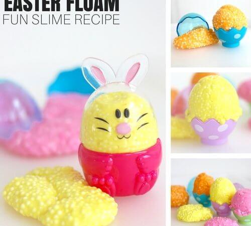 Easy Floam Easter Slime Recipe for Homemade Slime Making Fun!