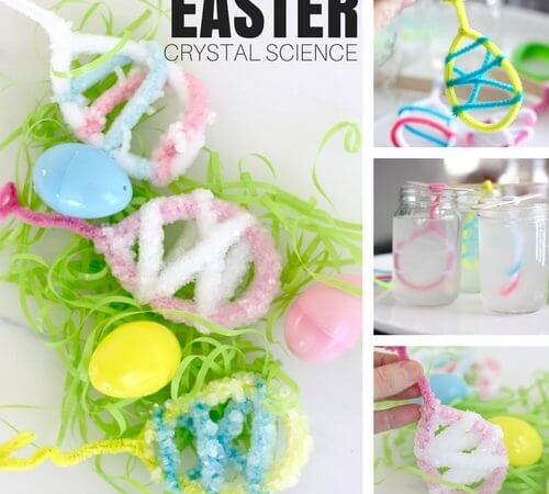 Crystal Easter Science Experiment and Activity for Kids