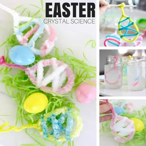 easter activity growing crystals eggshells