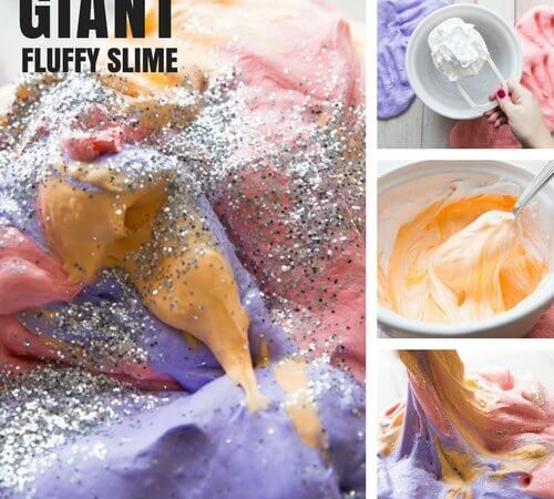 How To Make Giant Fluffy Slime Recipe for Amazing Sensory and Science Play!