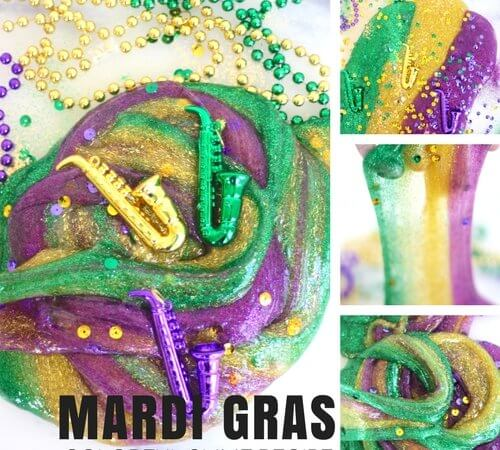 How To Make Mardi Gras Slime Recipe for Colorful Homemade Slime